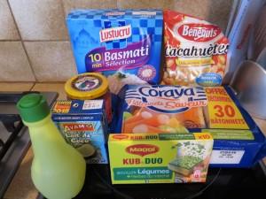 Ingrédients - Riz asiatique aux Corayas