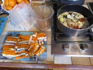 Préparation - Riz asiatique aux Corayas