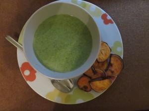 soupe super rapide aux brocoli et Bleu