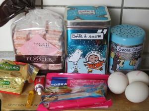 Ingrédients_Moelleux aux biscuits roses de Reims