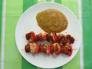 Brochettes de poulet et chorizo